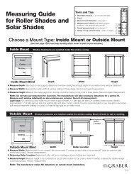 Roller & Solar Shades - Springs Window Fashions