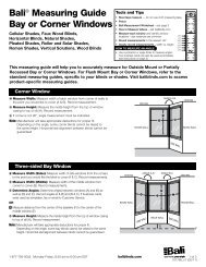 Bali® Measuring Guide Bay or Corner Windows - Springs Window ...