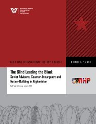 The Blind Leading the Blind: - Woodrow Wilson International Center ...