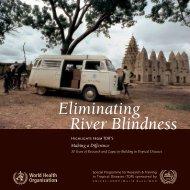 Eliminating River Blindness - World Health Organization