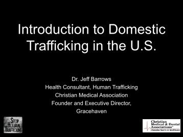 Introduction to Domestic Trafficking in the U.S.