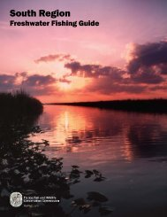South Region Freshwater Fishing Guide - Florida Fish and Wildlife ...