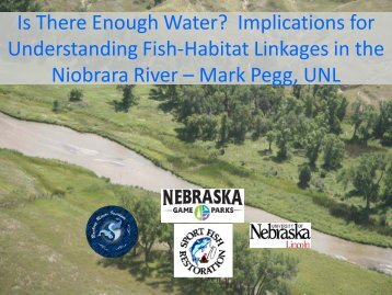 Is There Enough Water? - Nebraska Game and Parks Commission