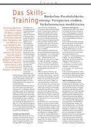 Das Skillstraining - Kantonale Psychiatrische Dienste