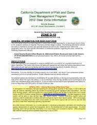 D-19 Zone - California Department of Fish and Game