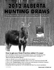 2012 Alberta Hunting Draws - My Wild Alberta
