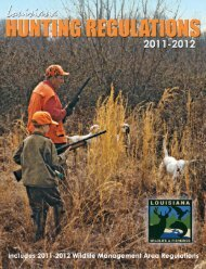 2011-2012 Hunting Regs low-res - Louisiana Department of Wildlife ...
