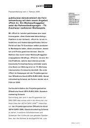 Pressemitteilung ersichtlich [PDF] - Publisuisse SA
