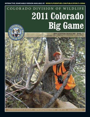 2011 Division of Wildlife Big Game Brochure - Rainbow Lake Lodge ...