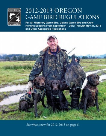 Game Bird Regulations - Oregon Department of Fish and Wildlife