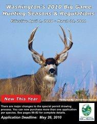Washington's 2010 Big Game Hunting Seasons & Regulations