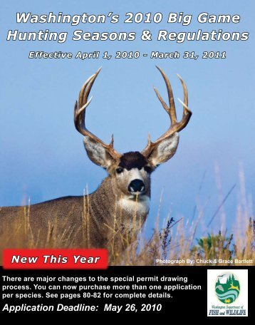 Washington's 2010 Big Game Hunting Seasons & Regulations