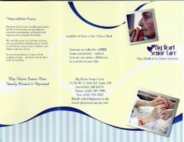 Brochure - Big Heart Senior Care