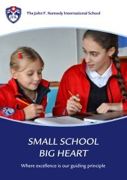 Small School Big heart - John F. Kennedy International School