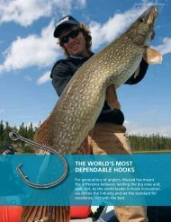 THE WORLD'S MOST DEPENDABLE HOOKS - Mustad