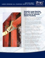 Versatile Large-opening Hook fits Wide Variety of ... - Gravitec Systems