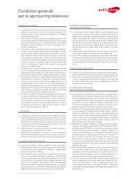 Condizioni generali per lo sponsoring televisivo - Publisuisse SA