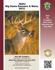 Idaho Big Game Seasons and Rules 2012 - Yellowstone Teton ...