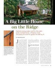 A Big Little House on the Ridge - Fine Homebuilding