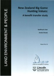 New Zealand big game hunting values: a benefit transfer study