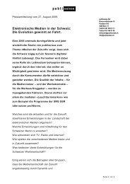 Medienmitteilung [PDF] - Publisuisse SA