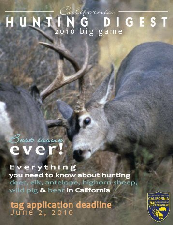California Hunting Digest: Big Game 2010