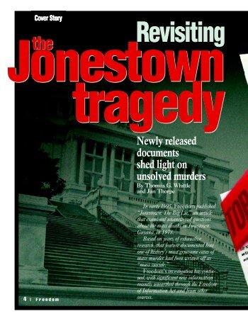 CSI Freedom Aug 97 p/s - Alternative Considerations of Jonestown ...