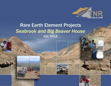 Rare Earth Element Projects Seabrook and Big Beaver House