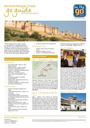 2012 Go Guide - Best Exotic Marigold - 10 days - On The Go Tours
