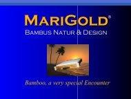 Bambus Natur & Design - MariGold Bamboo