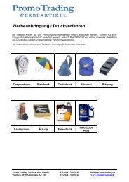 Information zu Druckverfahren - Promo Trading Werbeartikel GmbH