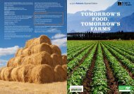 TOMORROW'S FOOD, TOMORROW'S FARMS - Forum for the Future