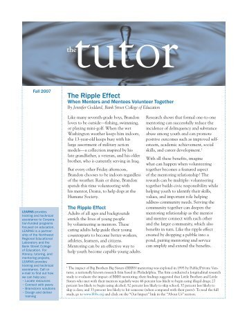 The Tutor: The Ripple Effect - National Service Knowledge Network