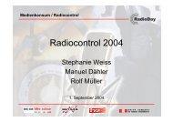 Medienkonsum / Radiocontrol 1. Semester 2004 - PUBLICA DATA AG