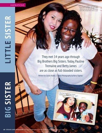 Big SiSter LittLe SiSter - Sugar Land Magazine