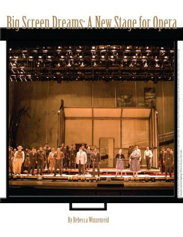 Big Screen Dreams: A New Stage for Opera - Get a Free Blog