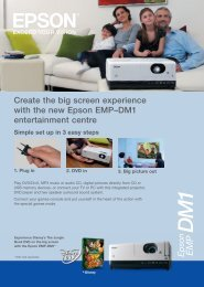 Create the big screen experience with the new Epson ... - HCinema