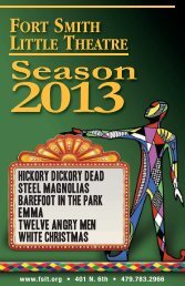 view the 2013 Program by clicking here… - Fort Smith Little Theatre