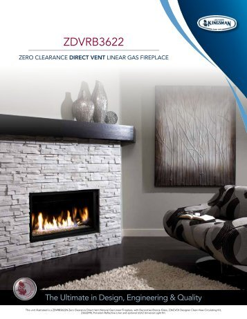 "36"" Direct Vent Gas Fireplaces ZDVRB3622 - HVAC For Life"