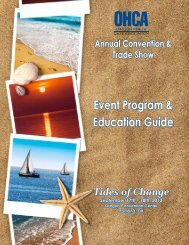 Event Program & Education Guide - OHCA Annual Convention ...