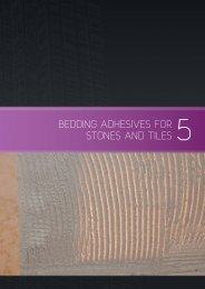 BEDDING ADHESIVES FOR STONES AND TILES 5