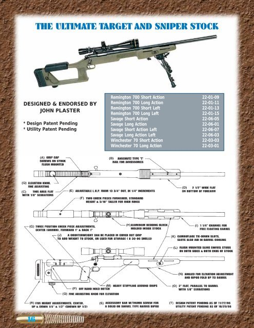the ultimate target and sniper stock - Choate Machine & Tool, Inc