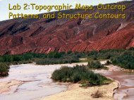 Lab 2:Topographic Maps, Outcrop Patterns, and Structure Contours