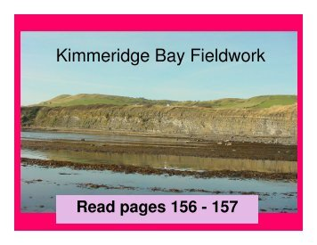 Kimmeridge Bay Fieldwork