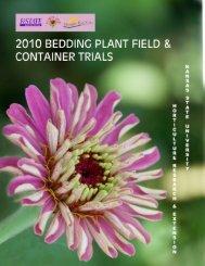 2010 Bedding Plant Field & Container Trials - Prairie Star Flowers