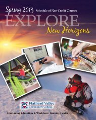 New Horizons - Flathead Valley Community College