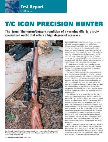 T/C ICON PRECISION HUNTER - Frontier Arms