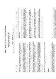 2006 Cultivar Trials of Bedding Plants - NDSU Agriculture