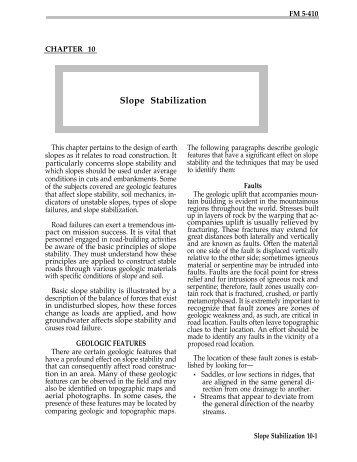Slope Stabilization - ITC