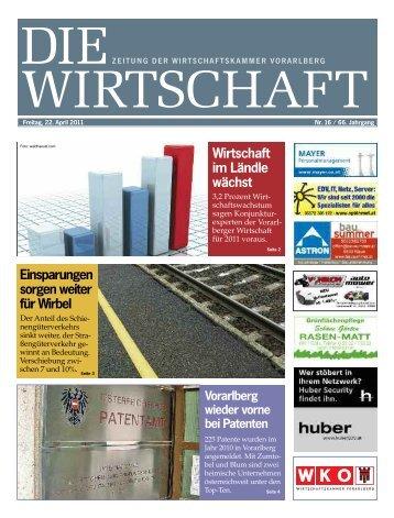 Die Wirtschaft Nr. 16 vom 22. April 2011